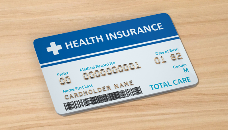 health insurance card on a table