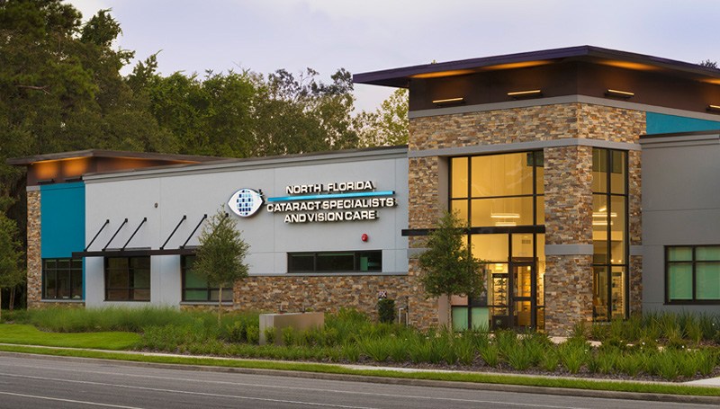 north florida cataract specialists and vision care office on nw 8th avenue in gainesville